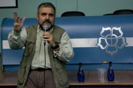 José Alberto Andrade falou sobre a cobertura de grandes eventos esportivos Imagem: Larissa Ferreira
