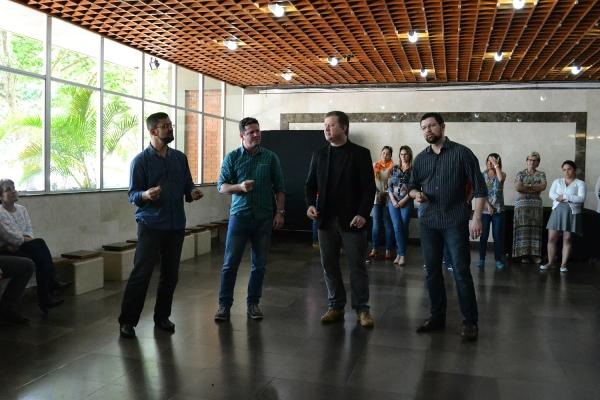 Quarteto Masculino da Pastoral se apresentou no evento. Imagem: Larissa Ferreira